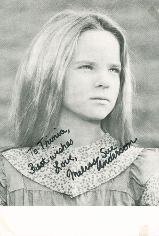 melissa sue missy anderson   inscribed photograph signed