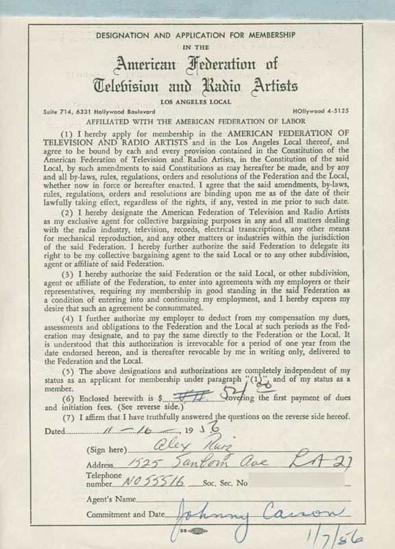 Image 3 for Alex Ruiz - Document Signed 11/16/1956 - HFSID 281729
