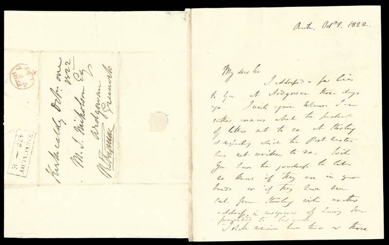 Image 3 for Sir Humphry Davy - Autograph Letter Signed 10/01/1822 - HFSID 28177