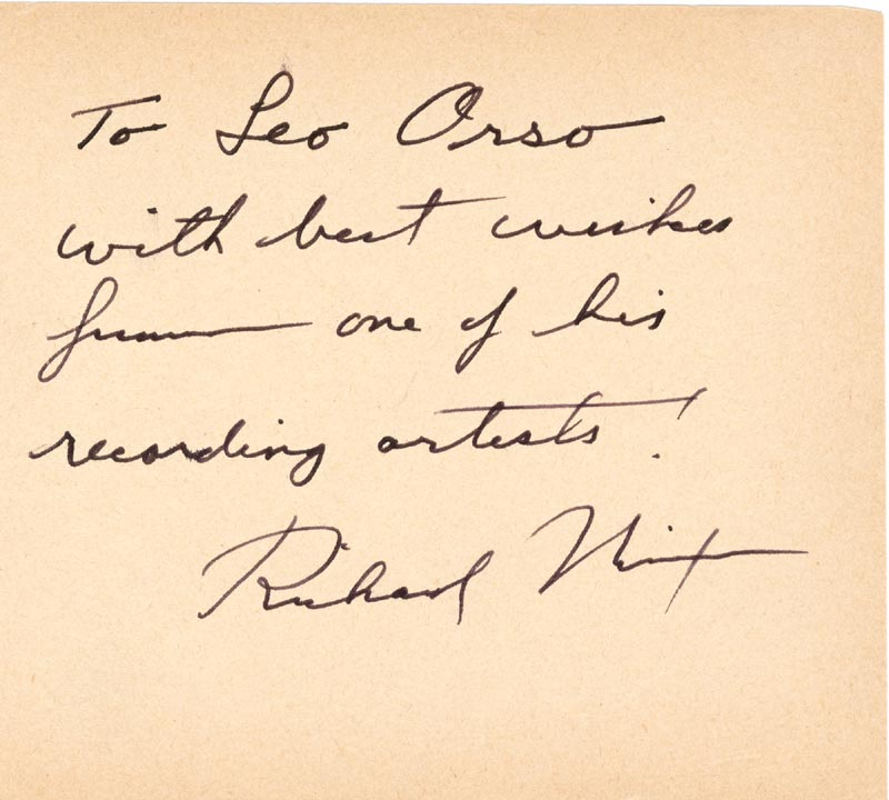 Image 1 for President Richard M. Nixon - Inscribed Signature - HFSID 28202