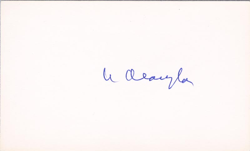 Image 1 for Associate Justice William O. Douglas - Autograph - HFSID 28209
