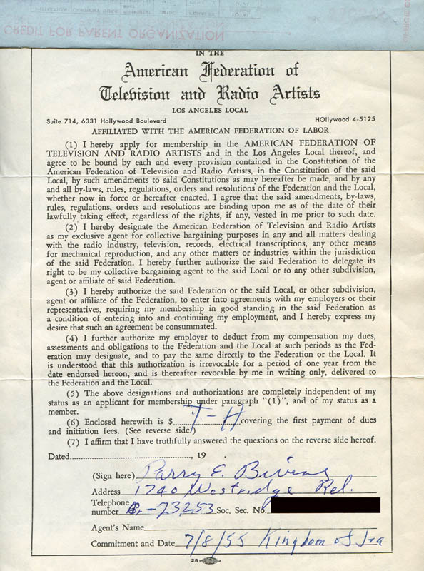 Image 3 for Parry Bivens - Document Signed 07/08/1955 - HFSID 282131