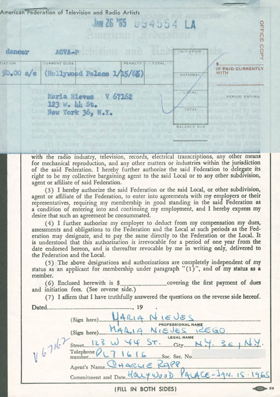 Image 1 for Maria Nieves - Document Double Signed - HFSID 282327