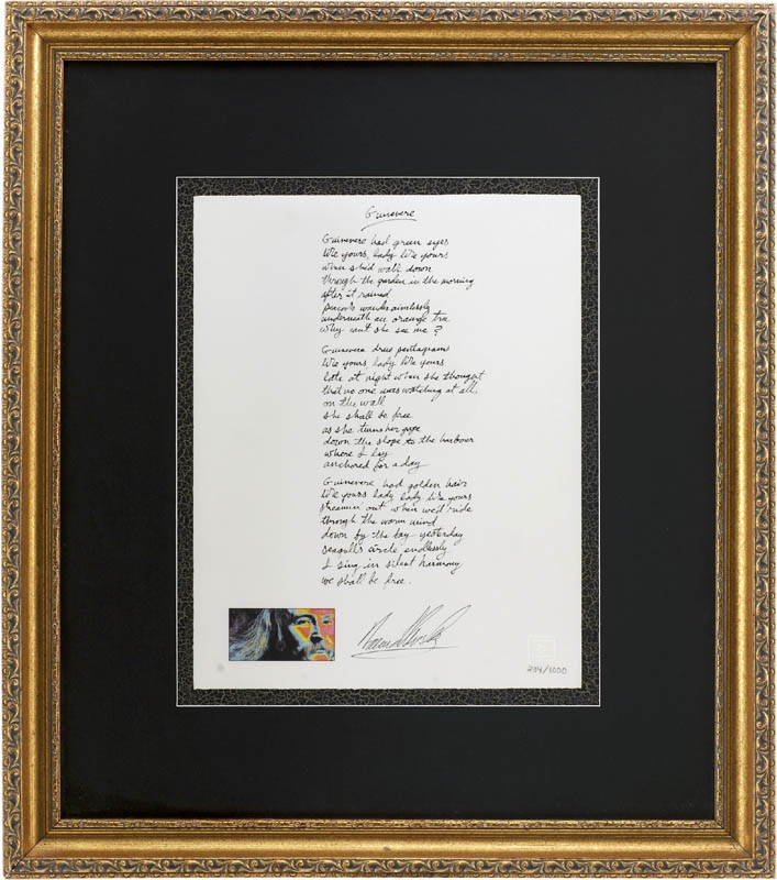 Image 1 for David Crosby - Printed Lyrics Signed In Ink - HFSID 282347