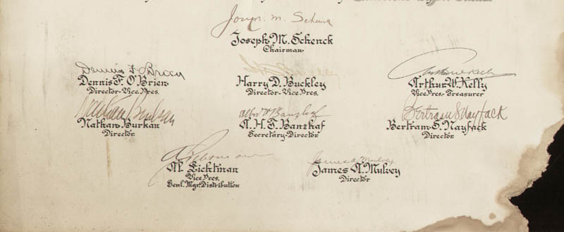 Image 3 for Joseph M. Schenck - Document Signed 03/23/1928 with co-signers - HFSID 282350