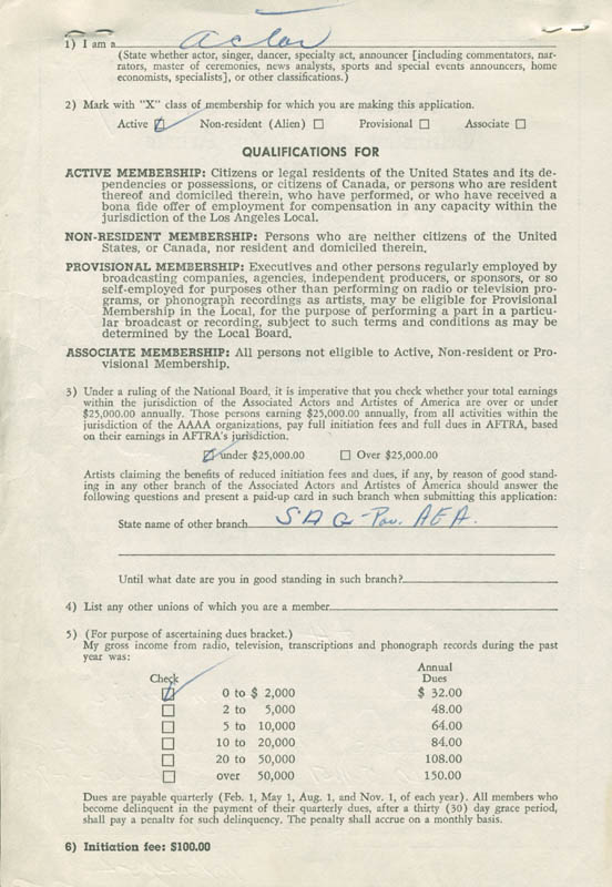 Image 4 for Alan Aric - Document Signed 10/24/1954 - HFSID 282403