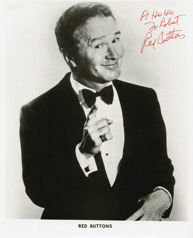 Image 1 for Red Buttons - Autographed Inscribed Photograph - HFSID 2825
