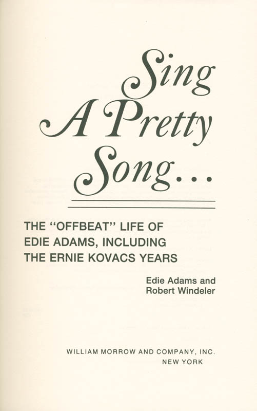 Image 3 for Edie Adams - Book Unsigned - HFSID 282729