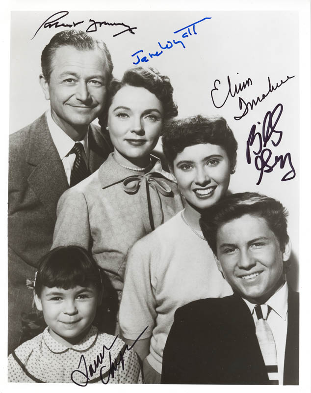 Image 1 for Father Knows Best TV Cast - Autographed Signed Photograph co-signed by: Lauren Chapin, Elinor Donahue, Billy Gray, Robert Young, Jane Wyatt - HFSID 282752