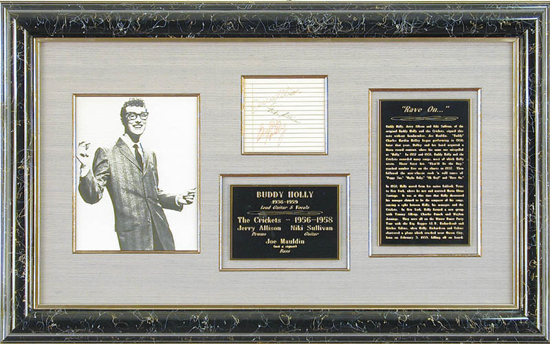 Image 1 for Buddy Holly - Autograph co-signed by: Niki Sullivan, Jerry Allison - HFSID 28276