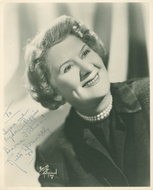 Image 1 for Ruth Donnelly - Autographed Inscribed Photograph 1950 - HFSID 282771