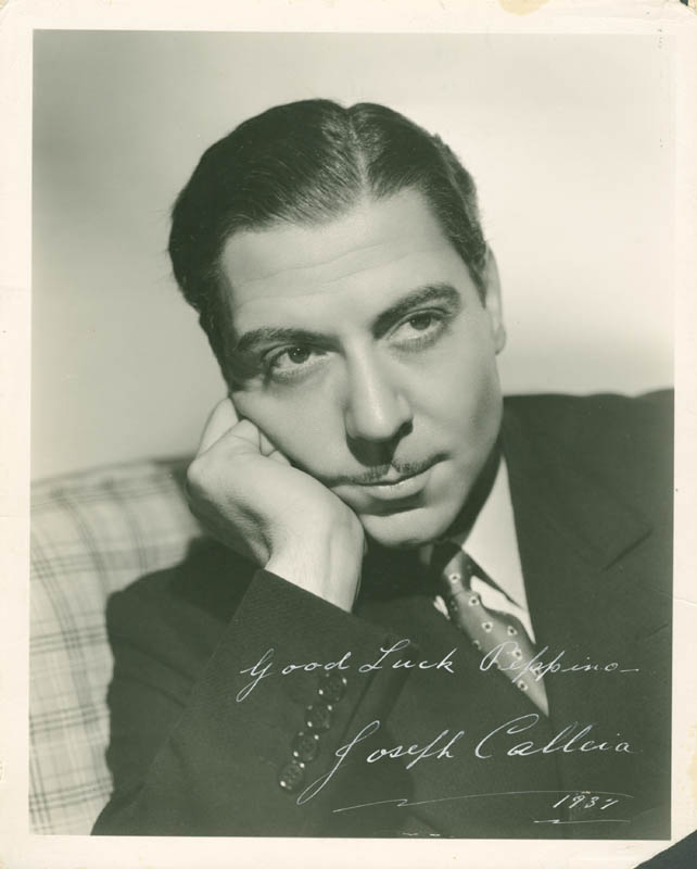 Image 1 for Joseph Calleia - Autographed Inscribed Photograph 1937 - HFSID 282774