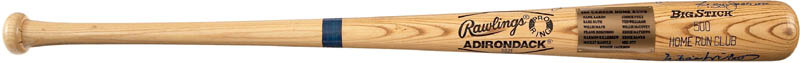 Image 1 for 500 Home Run Hitters - Baseball Bat Signed with co-signers - HFSID 282927