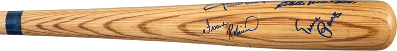 Image 4 for 500 Home Run Hitters - Baseball Bat Signed with co-signers - HFSID 282927