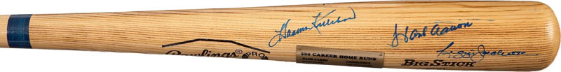 Image 5 for 500 Home Run Hitters - Baseball Bat Signed with co-signers - HFSID 282927