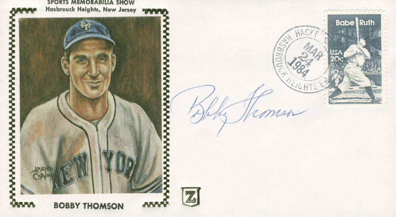 Image 1 for Bobby Thomson - Commemorative Envelope Signed - HFSID 282954