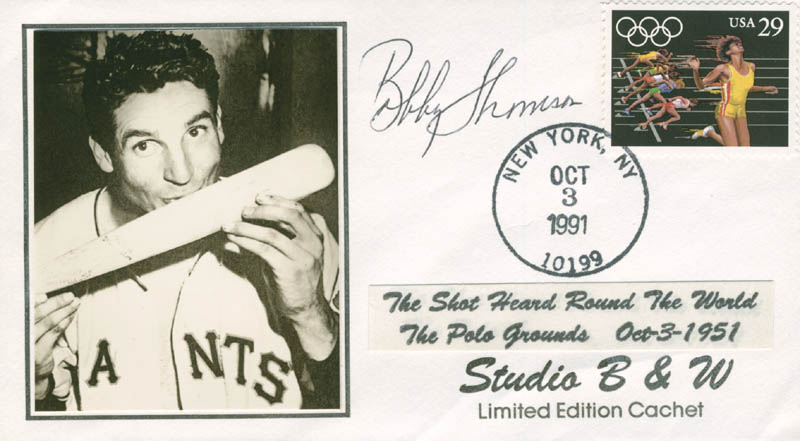 Image 1 for Bobby Thomson - Commemorative Envelope Signed - HFSID 282955