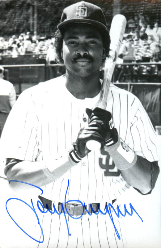 Tony Gwynn Picture Post Card Signed Historyforsale Item