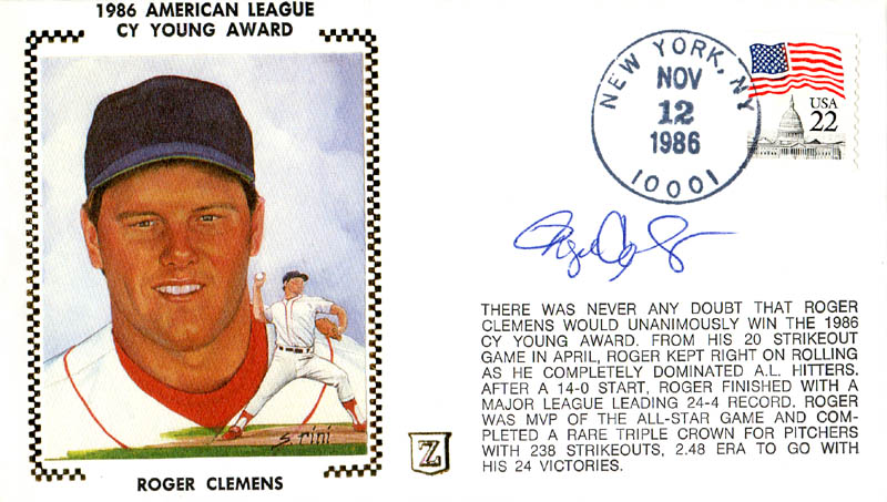 Image 1 for Roger Clemens - First Day Cover Signed - HFSID 283002