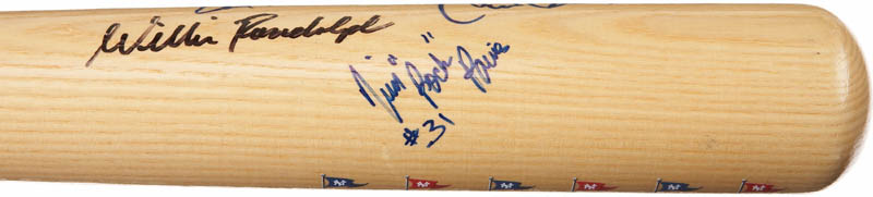 Image 6 for The New York Yankees - Baseball Bat Signed Circa 1996 with co-signers - HFSID 283010