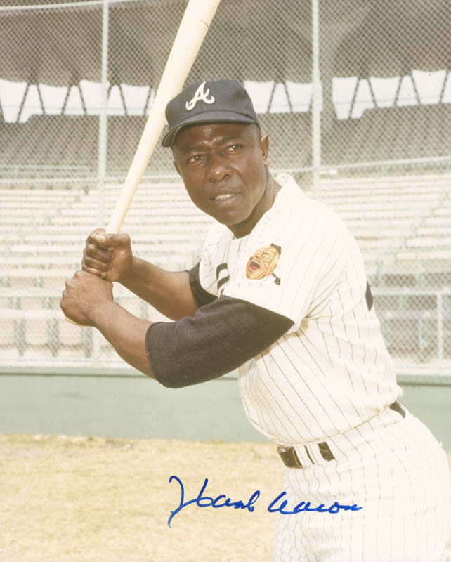 Image 1 for Hank Aaron - Autographed Signed Photograph - HFSID 283074