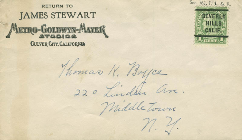 Image 3 for James 'Jimmy' Stewart - Typed Letter Signed 11/01/1952 - HFSID 283173