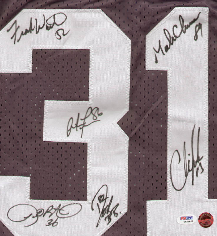 Image 3 for Green Bay Packers - Jersey Signed co-signed by: Mark Chmura, Chris Jacke, Antonio Freeman, Frank Winters, Leroy Butler, Don Beebe - HFSID 283439