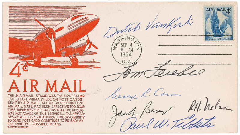 Image 1 for Enola Gay Crew - Commemorative Envelope Signed with co-signers - HFSID 283440