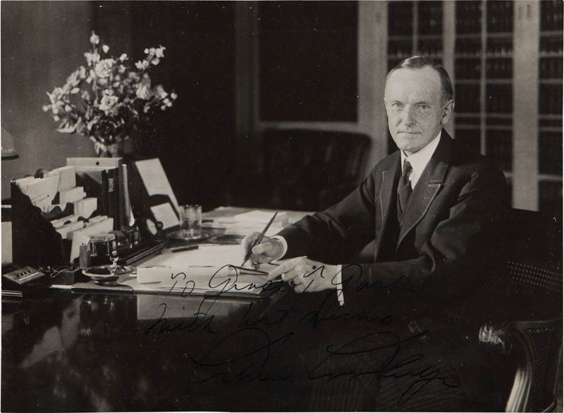 Image 1 for President Calvin Coolidge - Autographed Inscribed Photograph - HFSID 283539