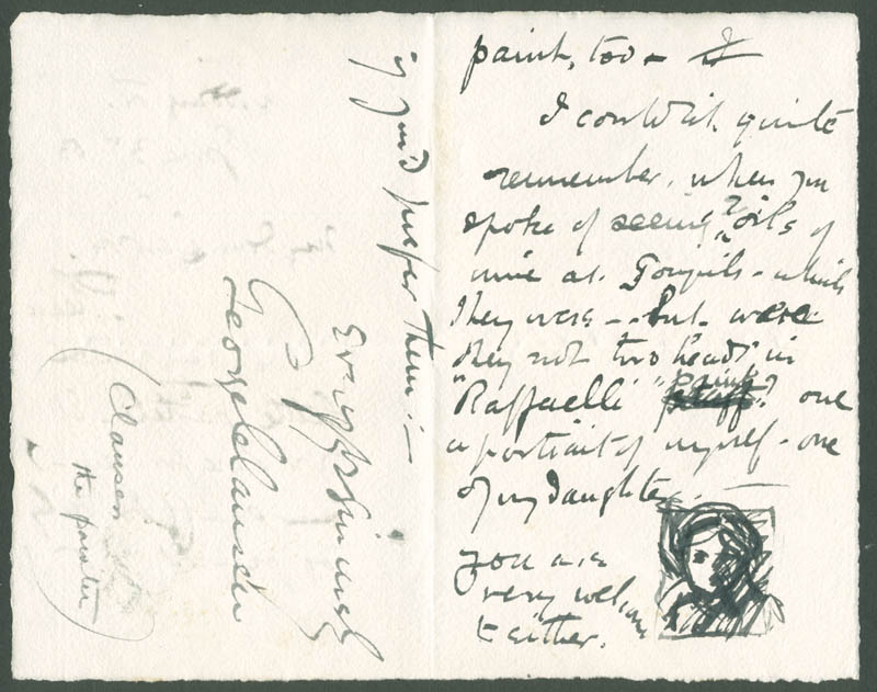 Image 3 for George Clausen - Autograph Letter Signed 07/03/1883 - HFSID 283579