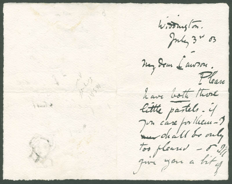 Image 4 for George Clausen - Autograph Letter Signed 07/03/1883 - HFSID 283579