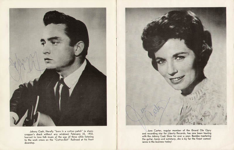 Image 1 for Johnny Cash - Program Signed co-signed by: June Carter Cash, Sonny Grubbs, Kermit Richmond - HFSID 283643