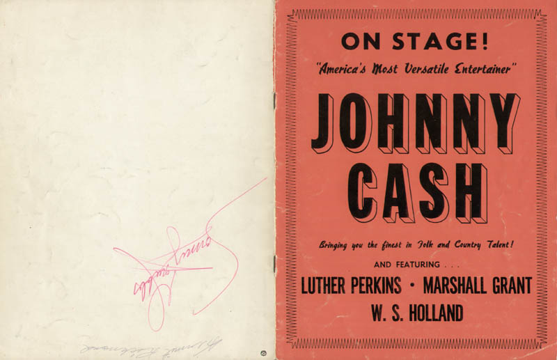 Image 4 for Johnny Cash - Program Signed co-signed by: June Carter Cash, Sonny Grubbs, Kermit Richmond - HFSID 283643