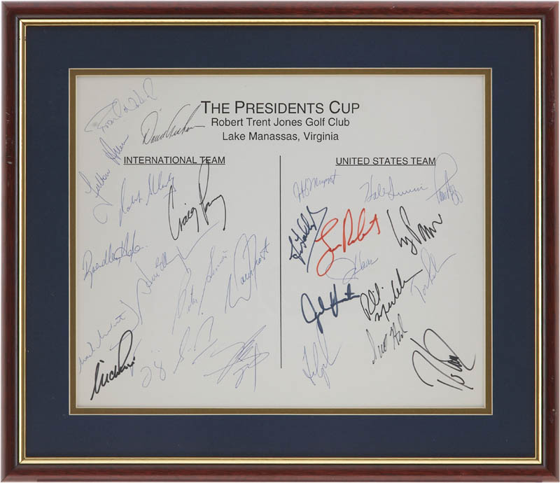 Image 1 for President'S Cup - Autograph with co-signers - HFSID 283667