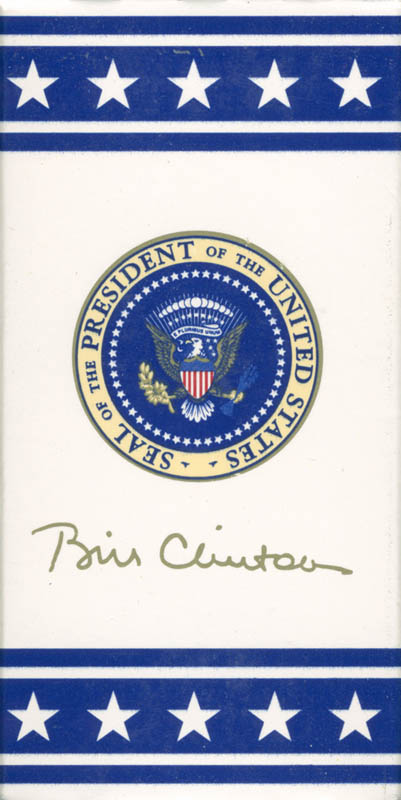Image 1 for President William J. 'Bill' Clinton - Ephemera Unsigned - HFSID 283700