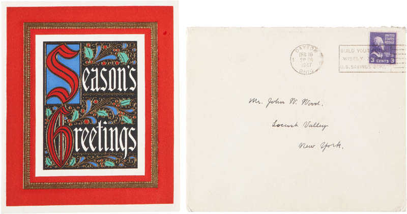 Image 3 for Orville Wright - Autograph Christmas / Holiday Card Signed Circa 1947 - HFSID 283742