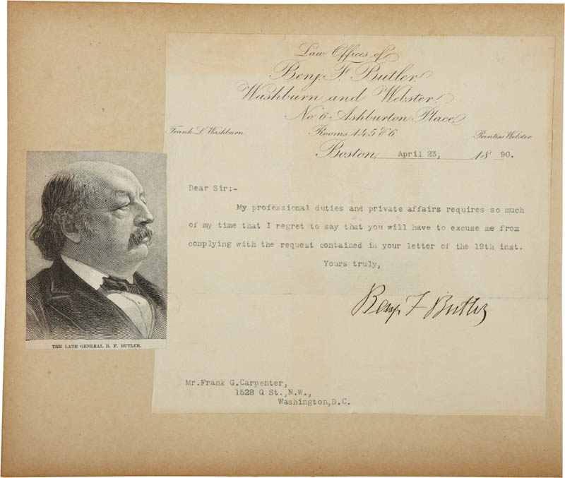 Image 3 for Clara Barton - Autograph Letter Signed co-signed by: Major General Benjamin F. Butler - HFSID 283763