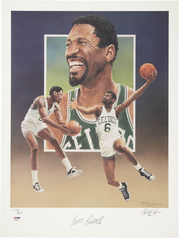 Image 1 for Bill Russell - Lithograph Signed co-signed by: Christopher Paluso - HFSID 283765
