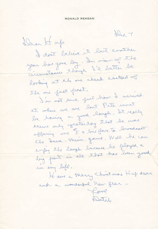 Image 1 for President Ronald Reagan - Autograph Letter Signed 12/07/1975 - HFSID 283819