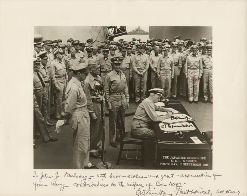 Image 1 for Admiral Chester W. Nimitz - Autographed Inscribed Photograph - HFSID 283821