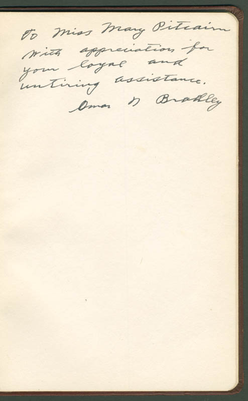 Image 1 for General Omar N. Bradley - Inscribed Speech Signed Circa 1948 - HFSID 283823