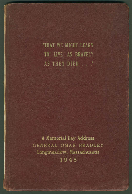 Image 3 for General Omar N. Bradley - Inscribed Speech Signed Circa 1948 - HFSID 283823