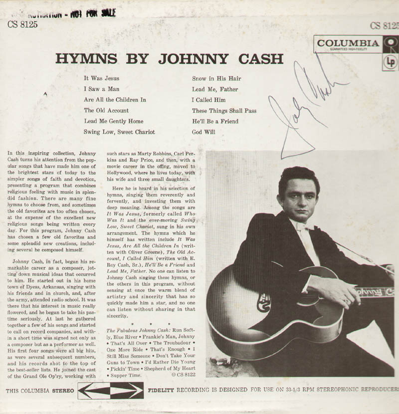 Image 1 for Johnny Cash - Record Album Cover Signed - HFSID 283825