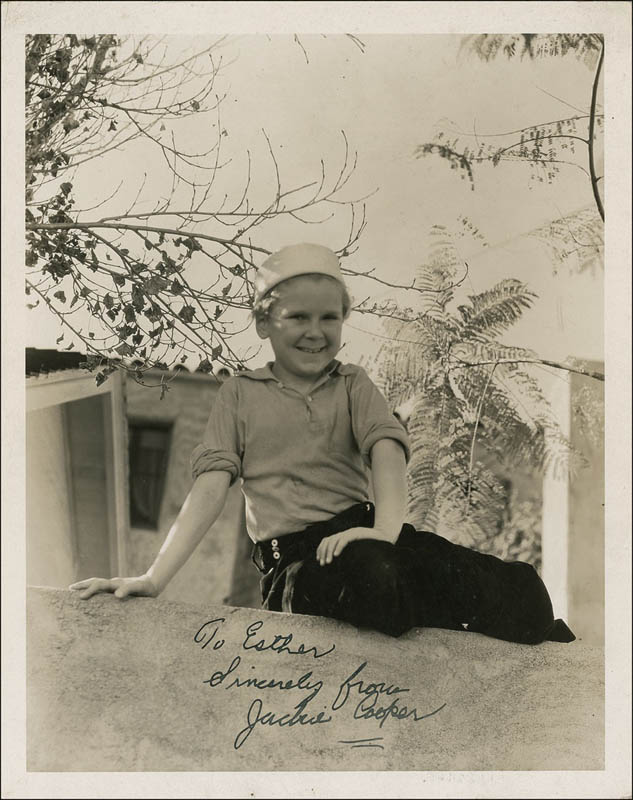 Image 1 for Jackie Cooper - Autographed Inscribed Photograph - HFSID 283852
