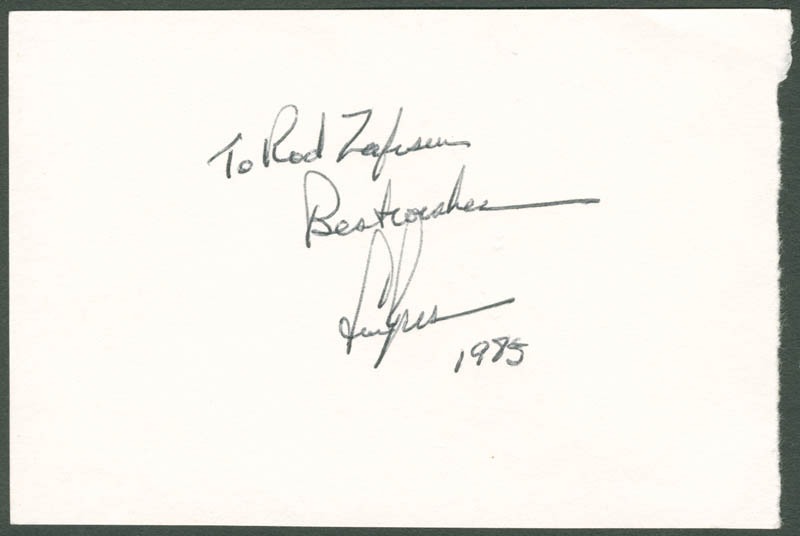 Image 1 for Lew Ayres - Autograph Note Signed 1985 - HFSID 284005