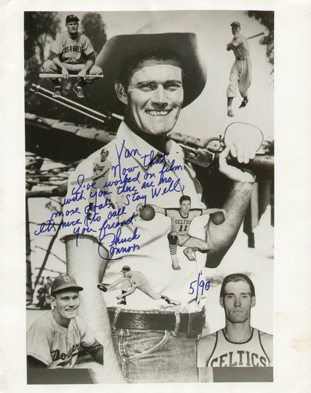 Image 1 for Chuck Connors - Autographed Inscribed Photograph 5/1990 - HFSID 284065