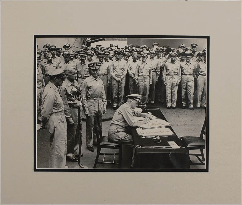 Image 1 for Admiral Chester W. Nimitz - Inscribed Photograph Signed Twice - HFSID 284117