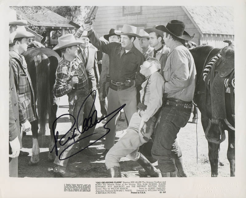 Image 1 for Rex Allen - Printed Photograph Signed In Ink - HFSID 284180