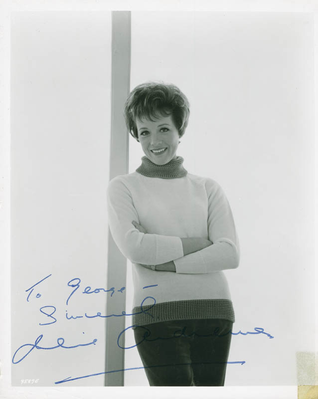 Image 1 for Julie Andrews - Autographed Inscribed Photograph - HFSID 284210