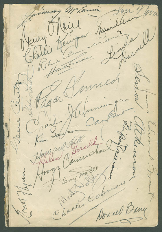 Image 1 for Errol Flynn - Book Page Signed with co-signers - HFSID 284217